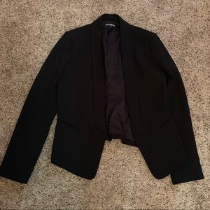 Express black boyfriend blazer
